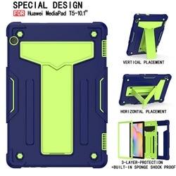 Для Huawei Mediapad T5 10,1 дюймов AGS2-W09/L09/L03/W19 полная Защита силиконовый чехол для планшета с отделениями для ручек Fundas чехол-подставка