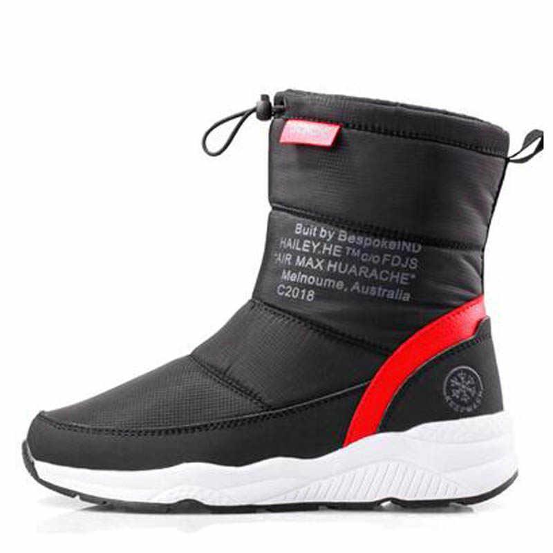 Kadın kışlık botlar 2019 kadın kar botları platformu kalın kürk sıcak çizmeler kaymaz su geçirmez kış ayakkabı botas mujer