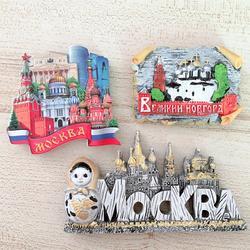 3D stereo magnetyczne lodówka magnes żywica rosyjski moskwa laleczka bobas nowogród Hagia Sophia naklejki magnetyczne na lodówkę Home Decor