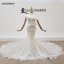 HTL1398 V boyun gelinlikler aplike Mermaid düğün elbisesi Illusion gelinlik Bohemian İnci свадебное платье русалка