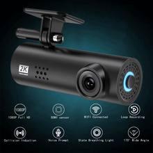 Traço cam 2k grande angular carro gravador de vídeo 1080 hd visão noturna câmera do carro escondido condução dvr carro traço cam g-sensor de automóvel 2021