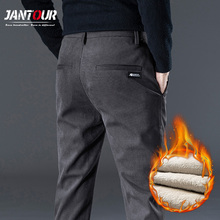 Winter Pants Business-Trousers Fleece Man Mens New-Fashion Corduroy Thick Polyester