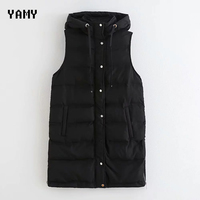 New sleeveless hooded Womens Jacket Coat wide waisted casual zora vicky Womens Outwear Female Winter thick Jacket long Coat 2019