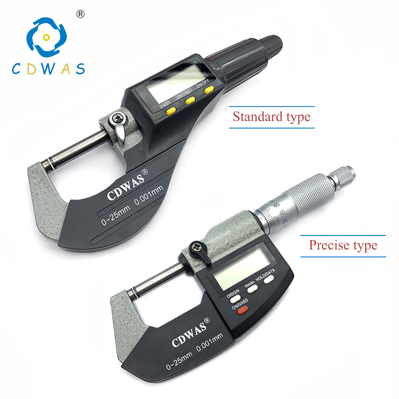 0-25 Mm Electronic Outside Micrometer 0.001 Mm With Extra Large LCD Screen Digital Micrometer Electronic Digital Caliper Gauge