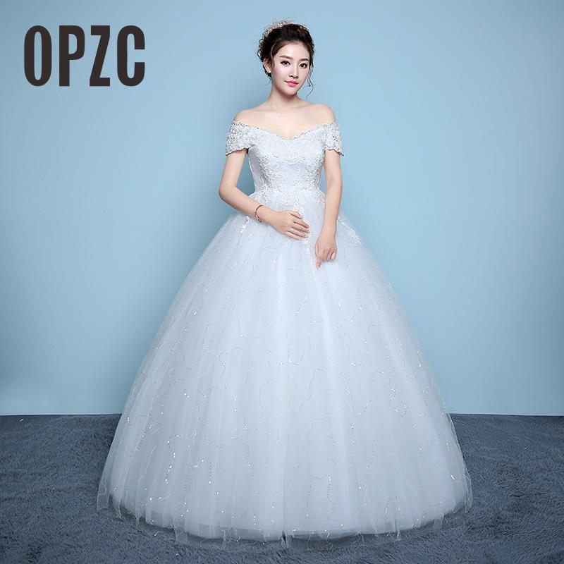 Red White For Pregnant Dress Korean Style Lace Wedding Dress 2017 New High Waist Lace Up Vestidos De Novia Plus Size Bride Dress