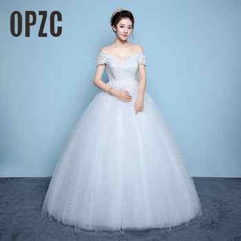Red White for Pregnant Dress Korean Style Lace Wedding Dress 2017 New High Waist lace up Vestidos De Novia Plus Size Bride Dress - DISCOUNT ITEM  10% OFF Weddings & Events