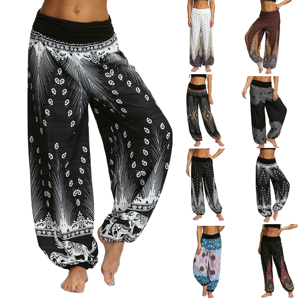 Fashion Men Women  Casual Spring And Summer Polyester Loose Hippy Sport Trousers Baggy Boho Aladdin Pants H4