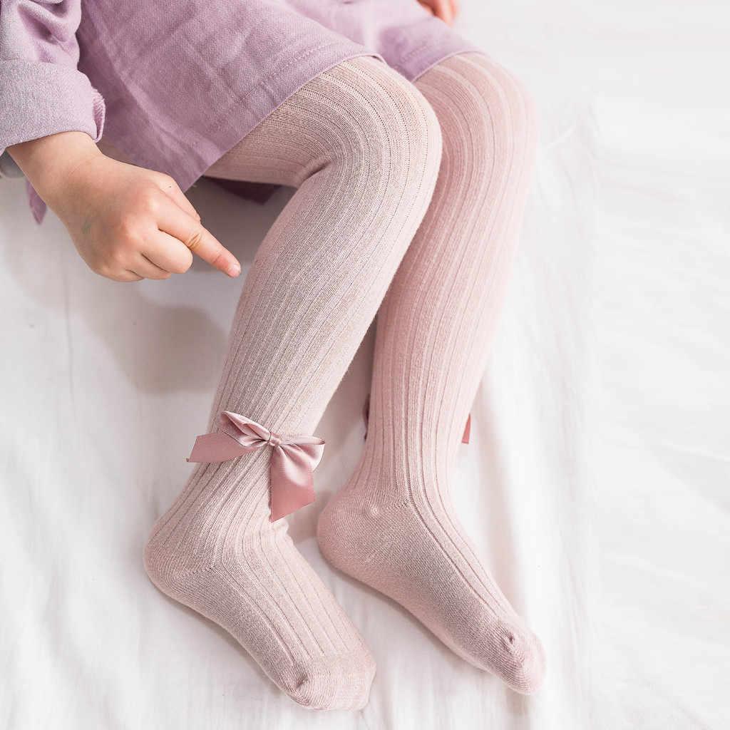 Invierno Niño bebé chico niña arco medias sólido arco cálido Panty pantalones de tubo gota 2020 nuevo bebé niñas bebé medias