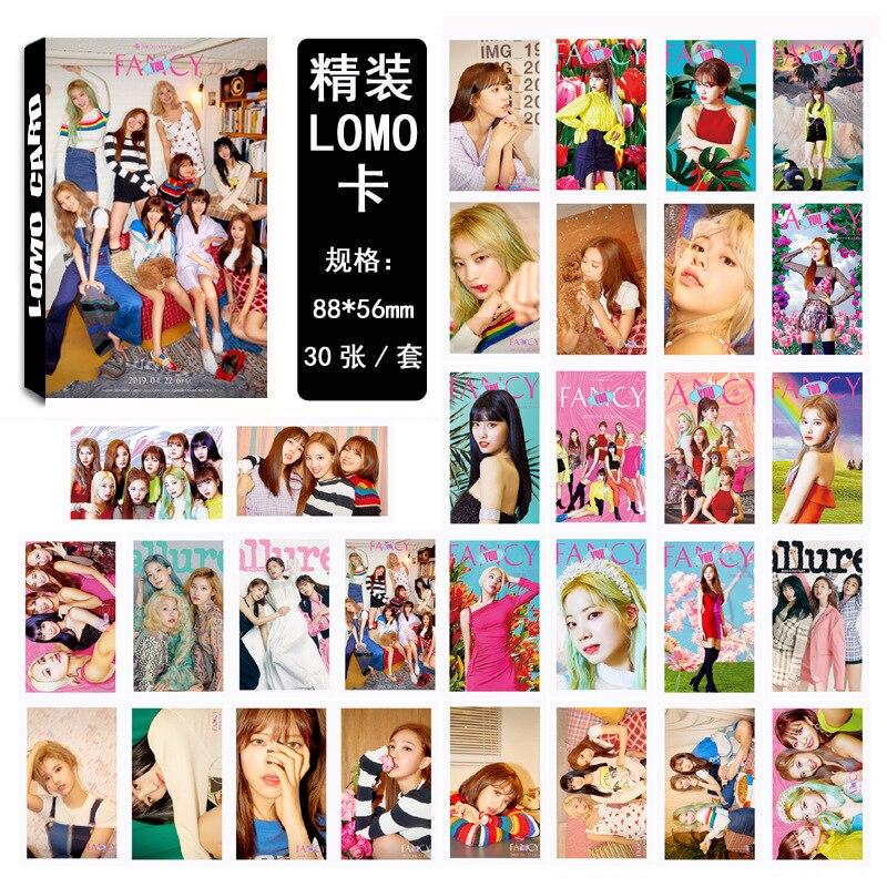 30pcs set Kpop TWICE Photocard set FANCY YOU new album HD good quality Photo card fashion