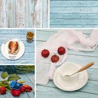 Fondo de fotografía de doble cara, Fondo de estudio de fotografía de grano de madera y mármol, papel impermeable para comida y bebida, 57x87 cm