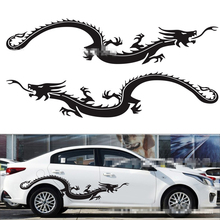 1 Set 2 Pieces Car Whole Body Sticker 150x30cm Flying Dragon Modified Decals Accessory Styling