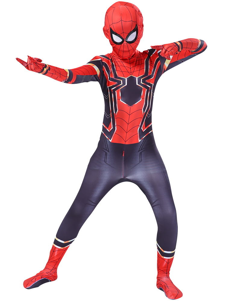 spider costueme man fantasia miles morales zentai costumes white Man For kids Cosplay Suit Red And Black Adult Men's boy costume 6
