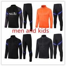 Men Kids Soccer Zip Jacket 2021 Training Suit Netherlands Tracksuit Uniform MEMPHIS Virgil Wijnaldum Netherlands Training Shirts