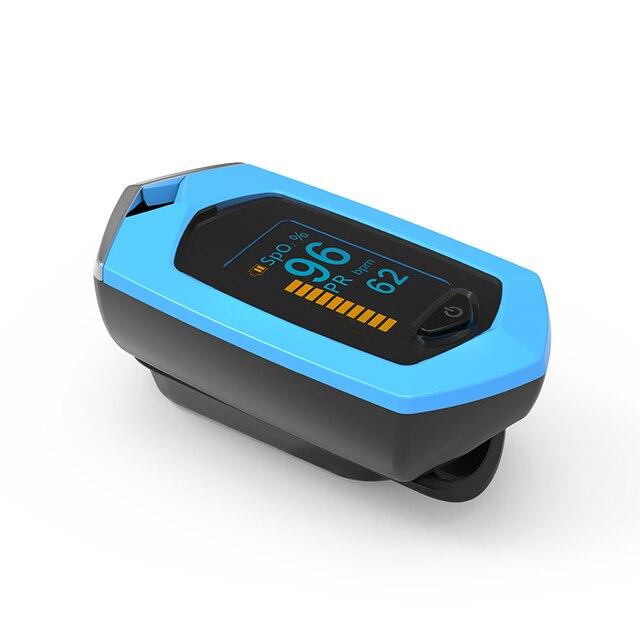 BOXYM Medical Rechargeable Finger Pulse Oximeter Digital Oximetro De Dedo SpO2 PR OLED CE Pulsioximetro Heart Rate Monitor 3