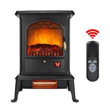3d Пламя камин отдельно стоящий нагреватель 3 дверное стекло