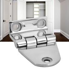 цены Round Folding Edge Furniture Stainless Steel Hinge Cabinet Accessories 60x38m