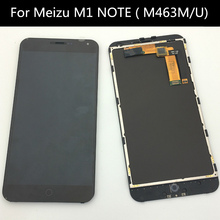 цена на for Meizu M1 NOTE LCD Screen 100% Original LCD Display+Touch Screen  Assembly with frame bezel housing +Free Shipping