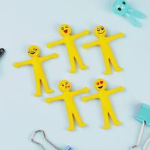 Creative Facial Expression Person Squeeze Toy Mini Silicone Squishy Stress Reliever Toys Random Expression