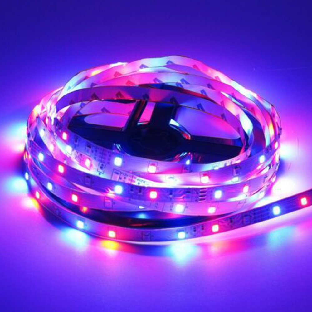 60Led/180Led/300Led/600Led Strip Lights SMD 2835 RGB Color Changing Kit With Flexible Strip Light 44 Key IR Remote Control