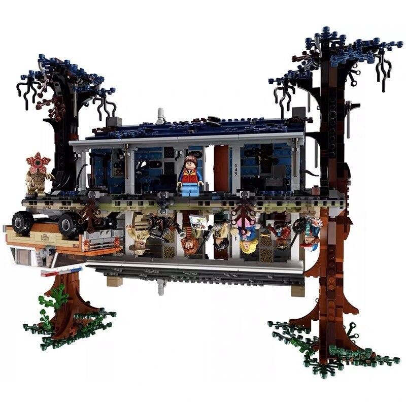 IN STOCK 2019 New 2499pcs Stranger Things The Upside Down Building Blocks Bricks Set Children Legoinglys Blocks  Toys Gift