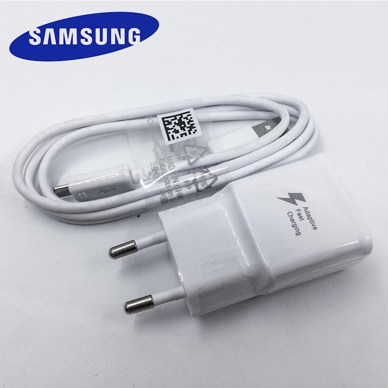 USB зарядное устройство для Samsung, штепсельная вилка европейского стандарта, быстрое зарядное устройство, микро USB кабель для Galaxy S6 S7 Edge s7edge S6edge...