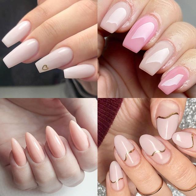 50ml hard jelly builder nail extension gel nail art french nail DIY gum Venalisa poly nail gel clear natural color fibreglass 6