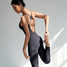 Backless Sexy Women Yoga Set Fitness Gym Clothes for Running Training Workout Athletic Jumpsuit Female Sportswear