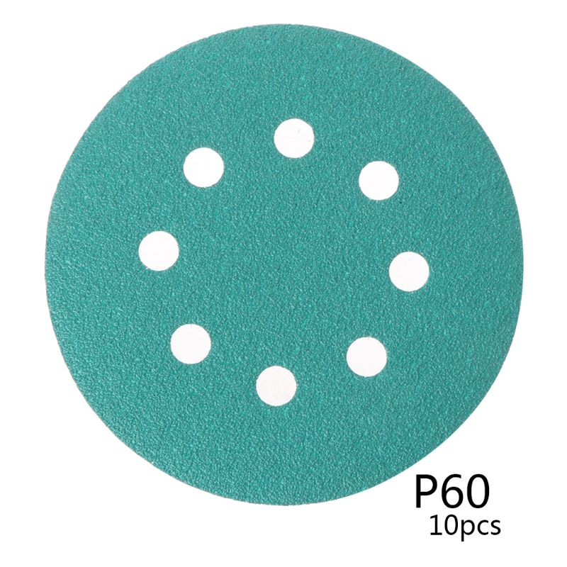 "10pcs 10pcs Professional Anti Clog 125mm Sandpaper 5"" Polyester Film Sanding Disc Wet And Dry Hook And Loop Abrasive Tools With"