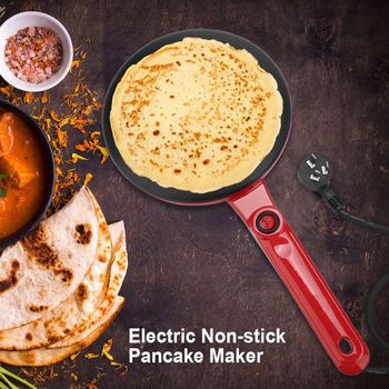 220V Electric Crepe Maker Round Non-stick Pancake Maker Kitchen Frying Pan Roll Cake Machine Breakfast Baking Appliances air frying pan new special price large capacity intelligent oil smoke free fries machine automatic electric frying pan 220v 3l