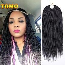 """TOMO волос 30 Корни 1"""" 16"""" 1"""" 20"""" 2"""" Синтетические накладные волосы на крючке, затененные, спиральное плетение волос, Сенегальские закрученные 18 Цвета 1 упак./лот"""