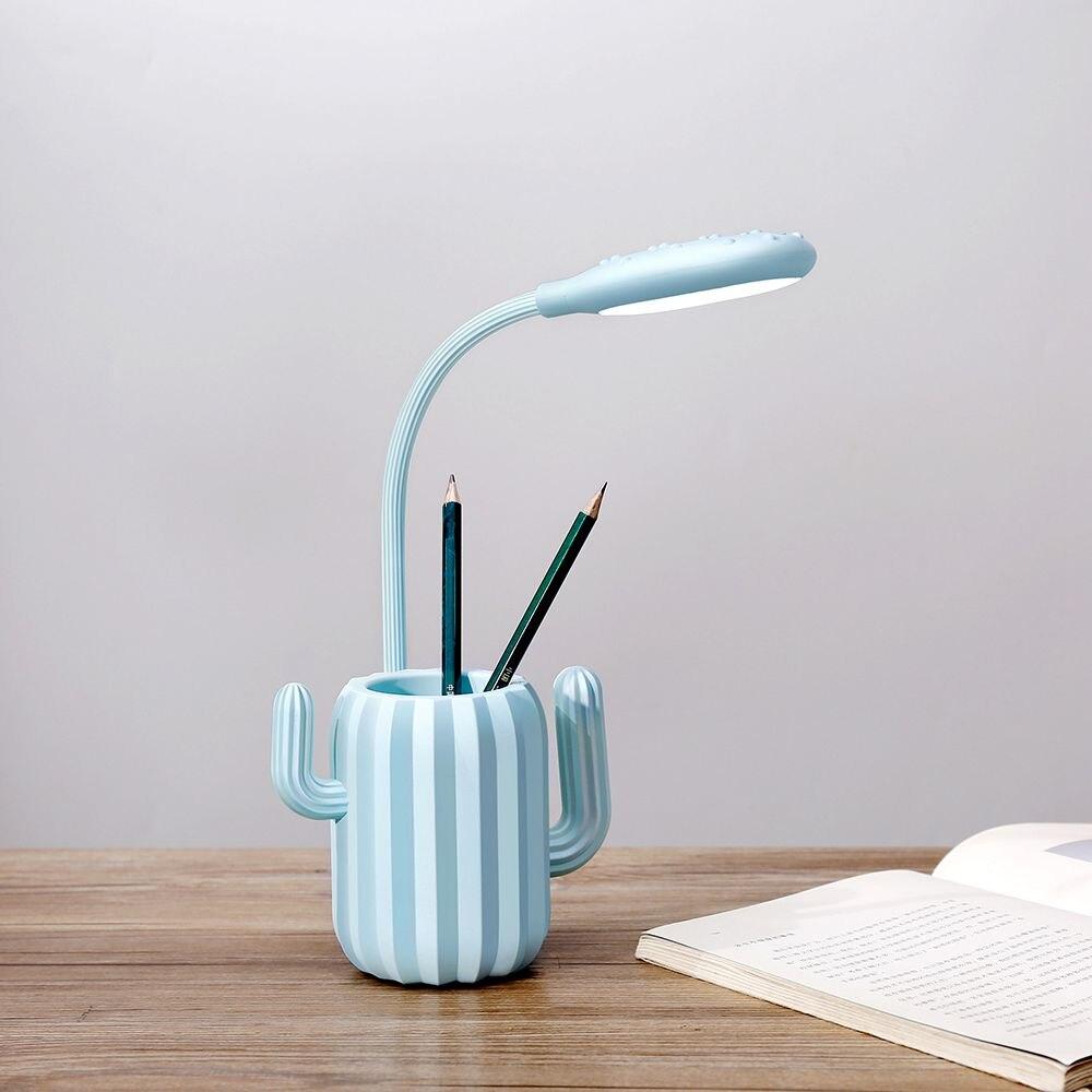 candeeiro de mesa cactus estilo escurecimento lâmpada
