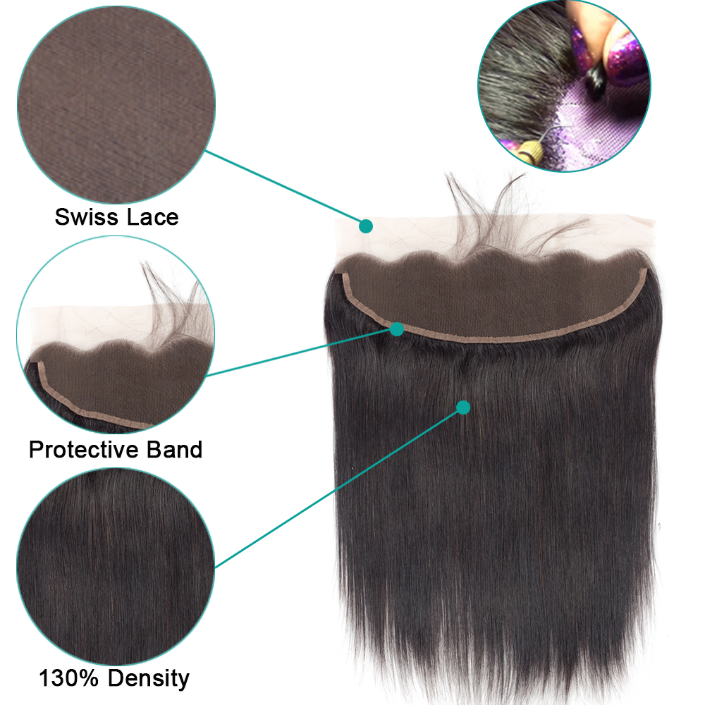 Hd84935e34c71462b9b234c8eeb353787G 3 Bundles With Frontal Brazilian Straight Human Hair Weave Bundles With Closure Lace Frontal Non Remy Hair Fashion Queen