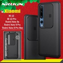 Nillkin Camera Bescherming Case Voor Xiaomi Poco X3 Nfc Redmi Note 9 Pro Max 9S Case Slide Lens Beschermen case Voor Xiaomi Mi 10 Pro