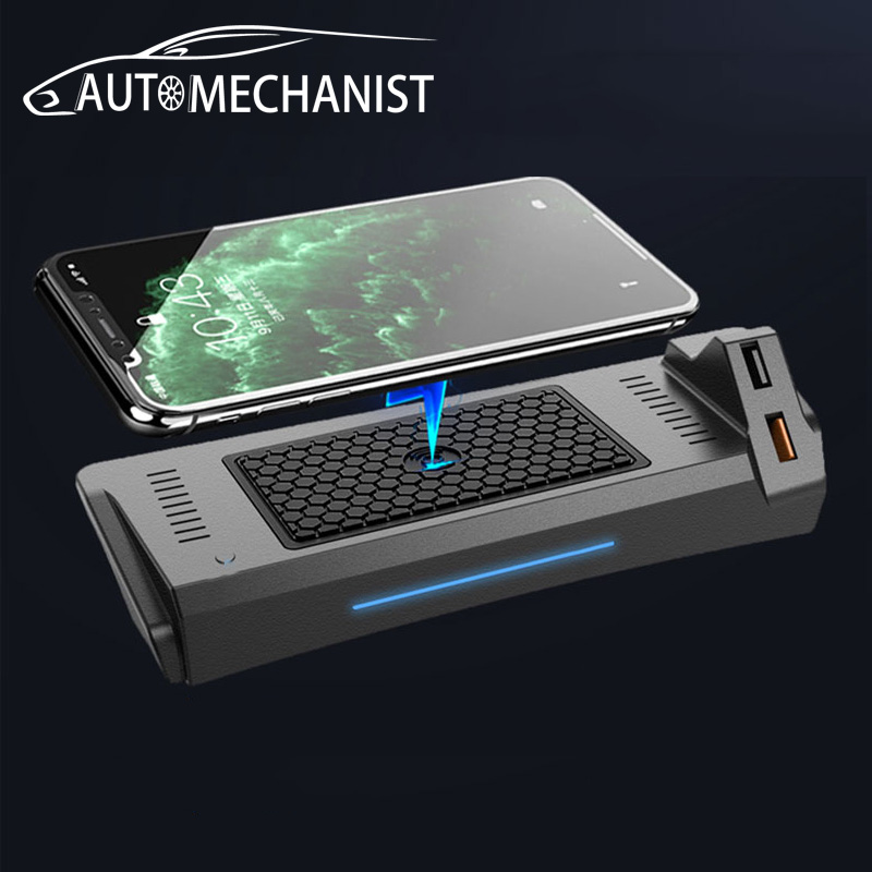 Car Wireless USB Charger Interior Mouldings For Audi A4 B9 A5 2017-2021 Universal Mobile Phone Charging Plate Car Accessories