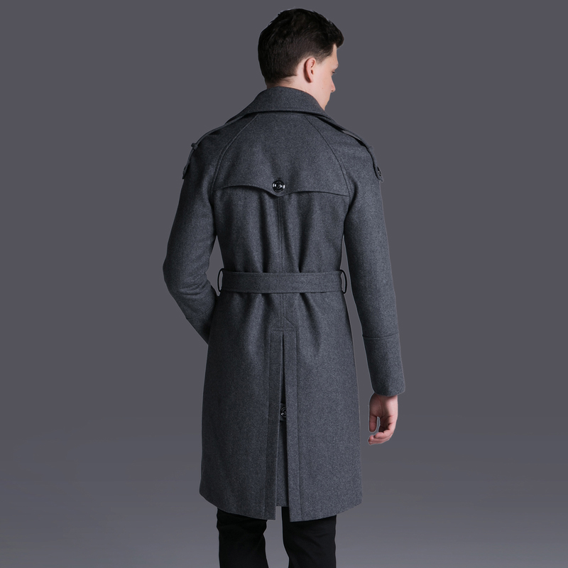 Double Breasted Luxury Solid Thick Mens Jackets And Coats Plus Size 6xl Adjustable Waist Man Trench With Belt
