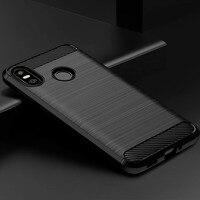 Funda de teléfono con textura cepillada para HTC U12 Life, funda trasera de TPU de lujo de fibra de carbono para HTC Desire 12 Plus U11 Life Eyes