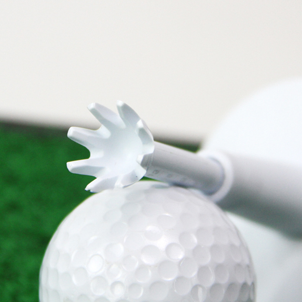 2pcs/pack Practice Adjustable Height Stability Driving Range Ball Rubber Outdoor Golf Tee Low Friction Training Aids Holder