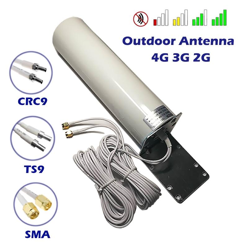 3G 4G LTE 2G наружная антенна GPRS всенаправленный разъем SMATS9 CRC9 5 м широкополосный компактный для маршрутизатора модема ретранслятор удлинитель