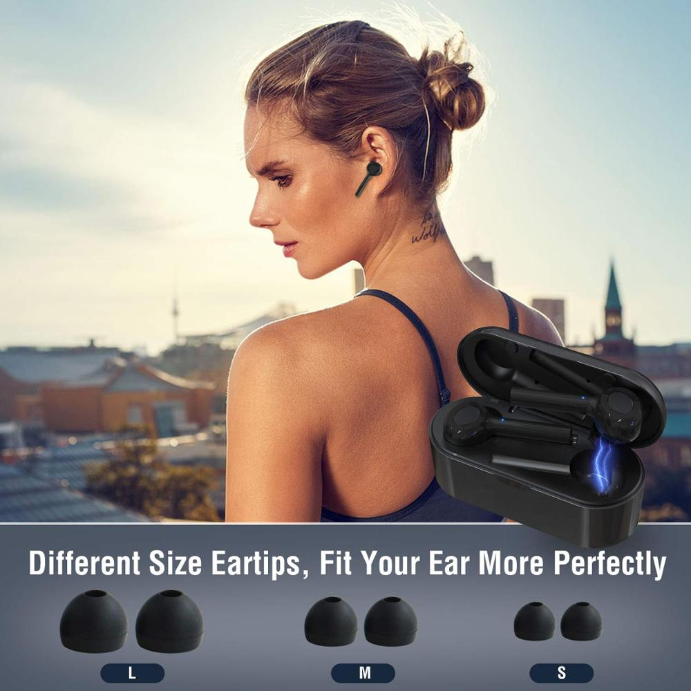 Amorno TWS Earphones Bluetooth 5 0 Stereo Headphones Noise Cancelling in Ear Earbuds Earpiece Built in Mic Handsfree Headsets in Phone Earphones Headphones from Consumer Electronics