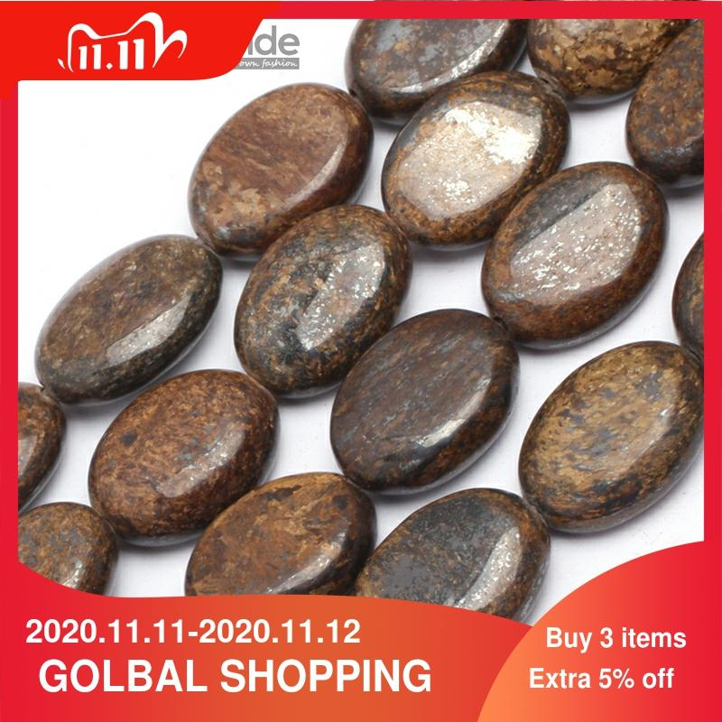 """Natural Bronzite Faceted Gemstone Oval Loose Beads For Jewelry Making Strand 15/"""""""