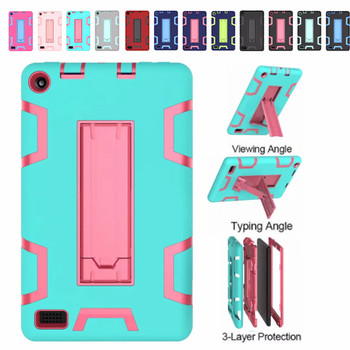 Drop Resistance Shockproof Kids Safe Silicone Case With Kickstand for Amazon Kindle Fire 7 7
