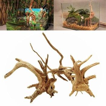1PCs Aquarium Plant Stump Ornament Driftwood Tree Fish Tank Wood Natural Trunk Landscap Decor Background Aquarium Decoration