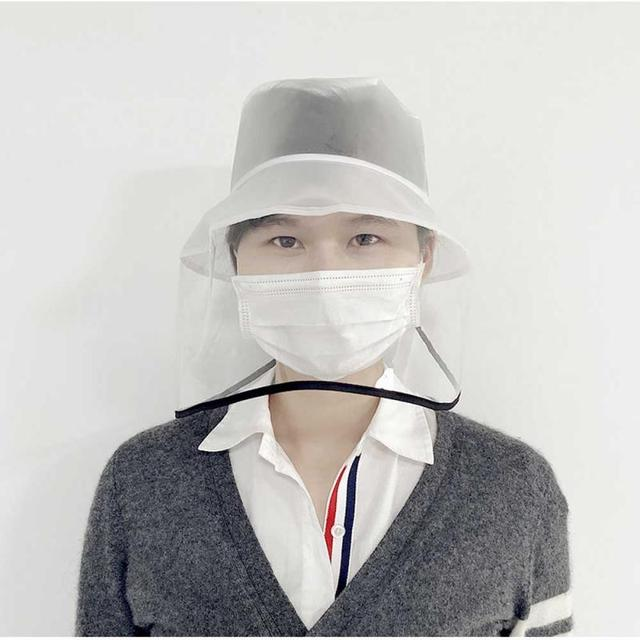 New Fashion Unisex Solid Protection Hat Anti Saliva Cap Face Shield Isolation Face Cover Hats For Outdoor Home Garden Cap 1