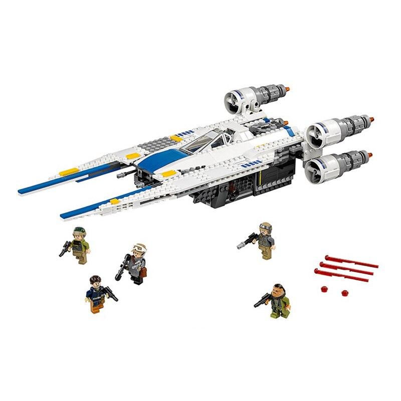 679pcs 05054 Star Wars The Rebel U Wing Fighter Jets Model Building Blocks Bricks Toys Kids Gifts Compatible Legoinglys Starwars