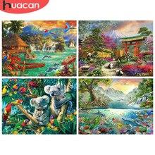HUACAN – Kit de peinture de diamant, broderie 5D d'animaux, dauphin, Panda, Koala, images de strass, Kit artisanal, à faire soi-même, vente