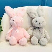 25СМ мягкая кролики игрушка кукла милый кролик чучела плюшевые игрушки для детей подарки на день рождения девушки домашнего декора Рождество