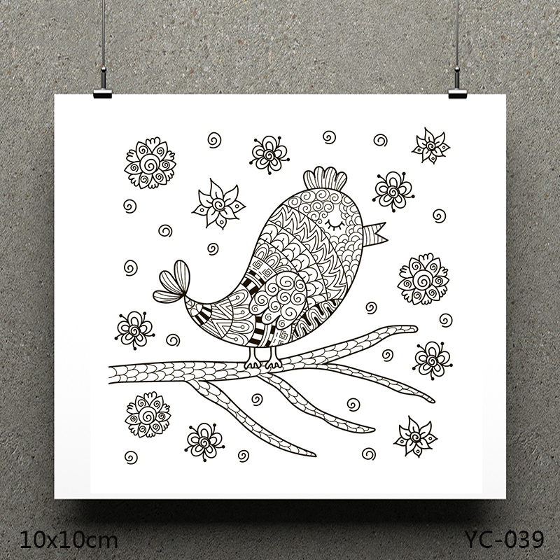 ZhuoAng A bird model Clear Stamps For DIY Scrapbooking/Card Making Decorative Silicon Stamp Crafts