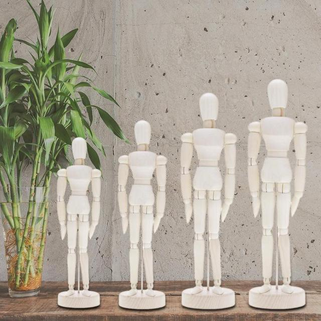 Wooden Artist Movable Limbs Male Wooden Toy Figure Model Mannequin bjd Art Sketch Draw Action Toy Figures 1