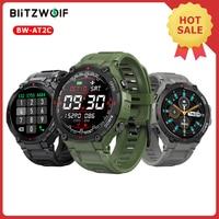[Bluetooth-kompatibler Anruf] BlitzWolf BW-AT2C Smartwatch 2021 400mAh Herzfrequenzmesser Blutdruckmessung Armband Sport Smartwatch Uhren für Männer Frauen für Android iOS Smartphone