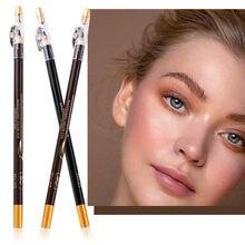 Lápis de sobrancelha à prova dwaterproof água olho sobrancelha delineador caneta lápis maquiagem beleza cosméticos ferramenta de longa duração marrom sobrancelha lápis